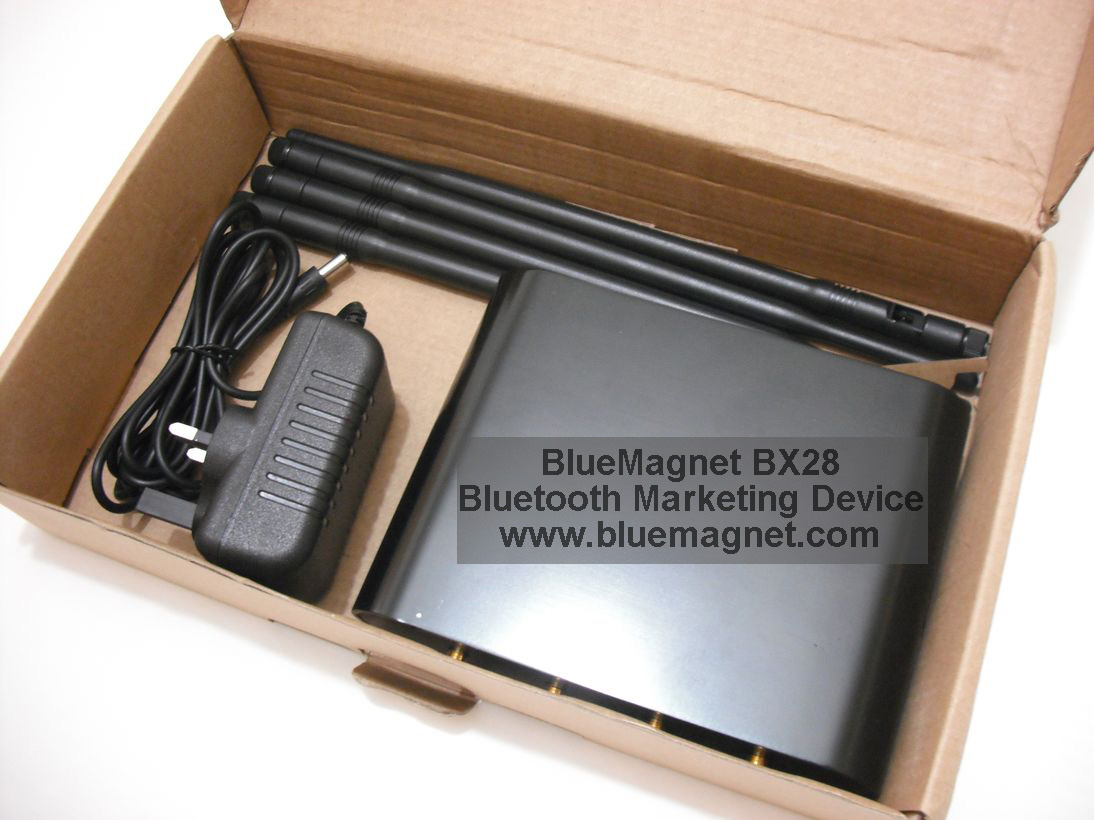 BlueMagnet BX28 is a Bluetooth Marketing Device and Bluetooth Advertising Device